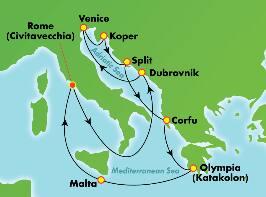 11-Day Mediterranean & Adriatic from Rome (Civitavecchia)