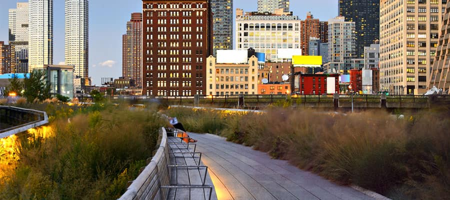 Visit high Line park when you cruise to NYC