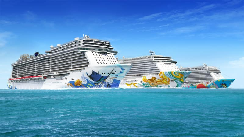 A Closer Look at the Hull Art on Norwegian Cruise Line Ships