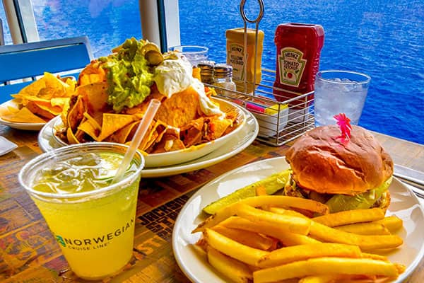 Delicious meals at Margaritaville