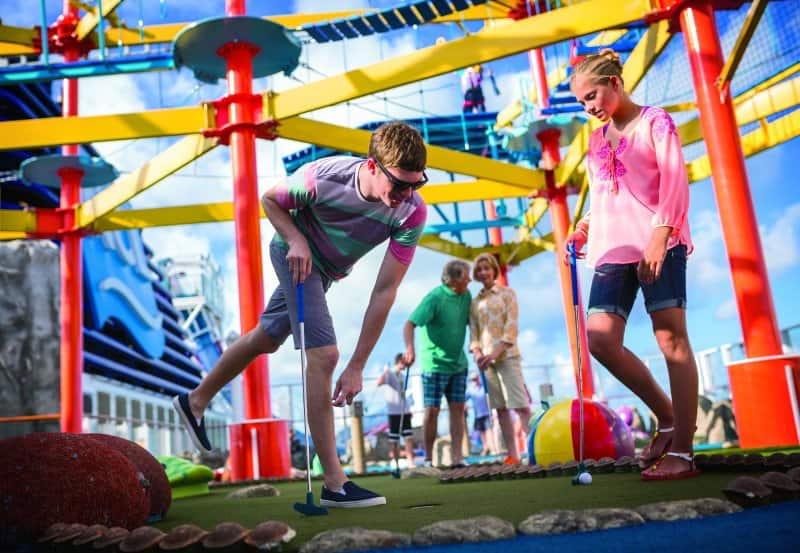 Try Family Friendly Fun Activities Like Mini Golf on Norwegian Breakaway