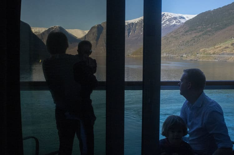 View of Norwegian Fjords from Balcony Stateroom
