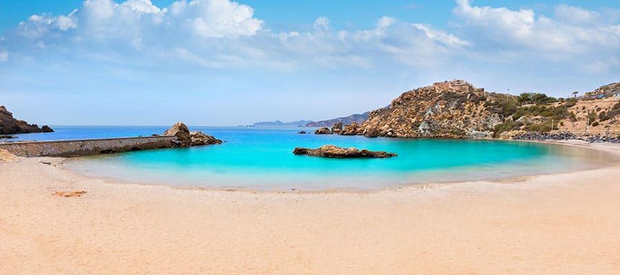 Cala Cortina beach on your Europe cruise