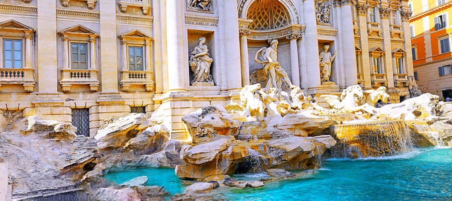 Fountain di Trevi on your Europe cruise
