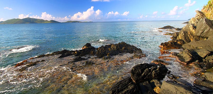 See all shades of blue on your Tortola cruise