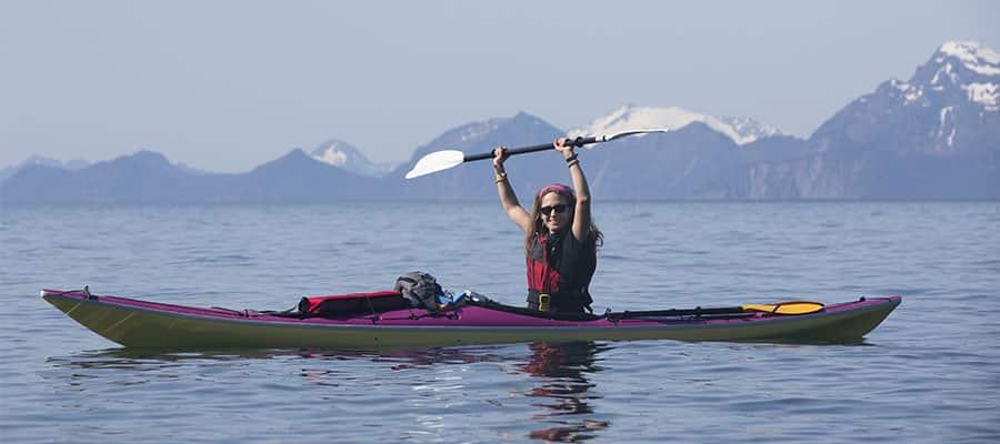 Kayak lors de votre croisière en Alaska