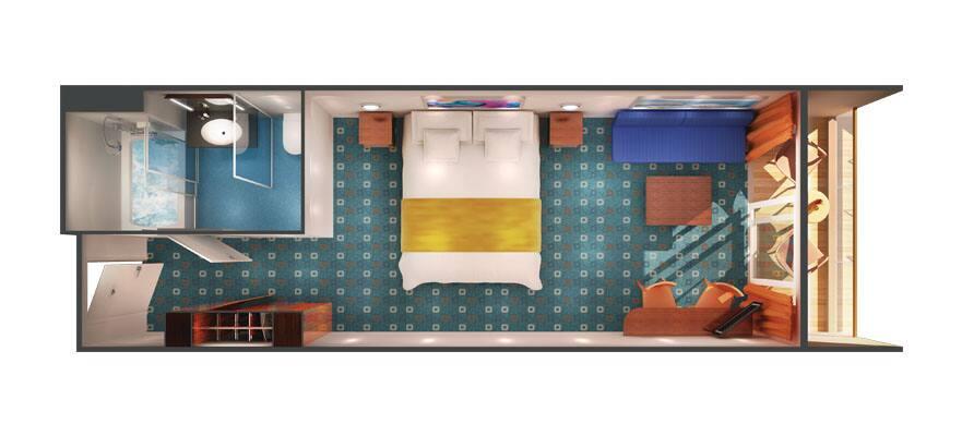 Plan de la mini-suite Sail Away