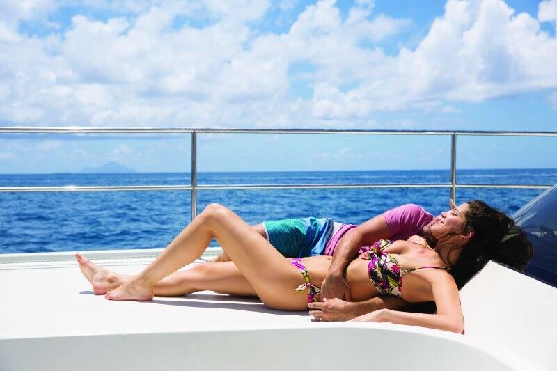 Romantic Catamaran Sail