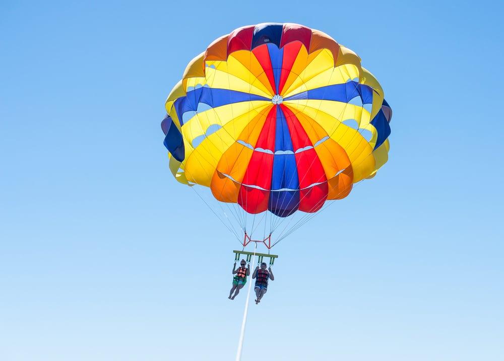 Parachute ascensionnel aux Caraïbes