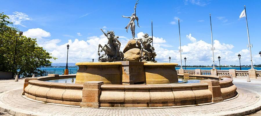 Brunnen Paseo de la Princesa auf Ihrer Kreuzfahrt nach San Juan
