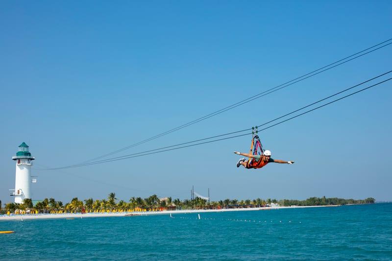 Flighthouse Zipline on Harvest Caye