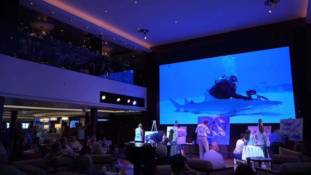Guy Harvey Live Drawing on Norwegian Escape