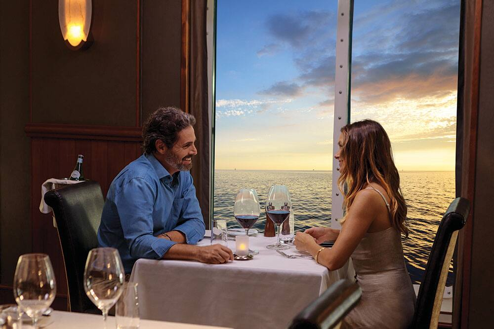 Enjoy a Romantic Dinner for Two on a Honeymoon Cruise