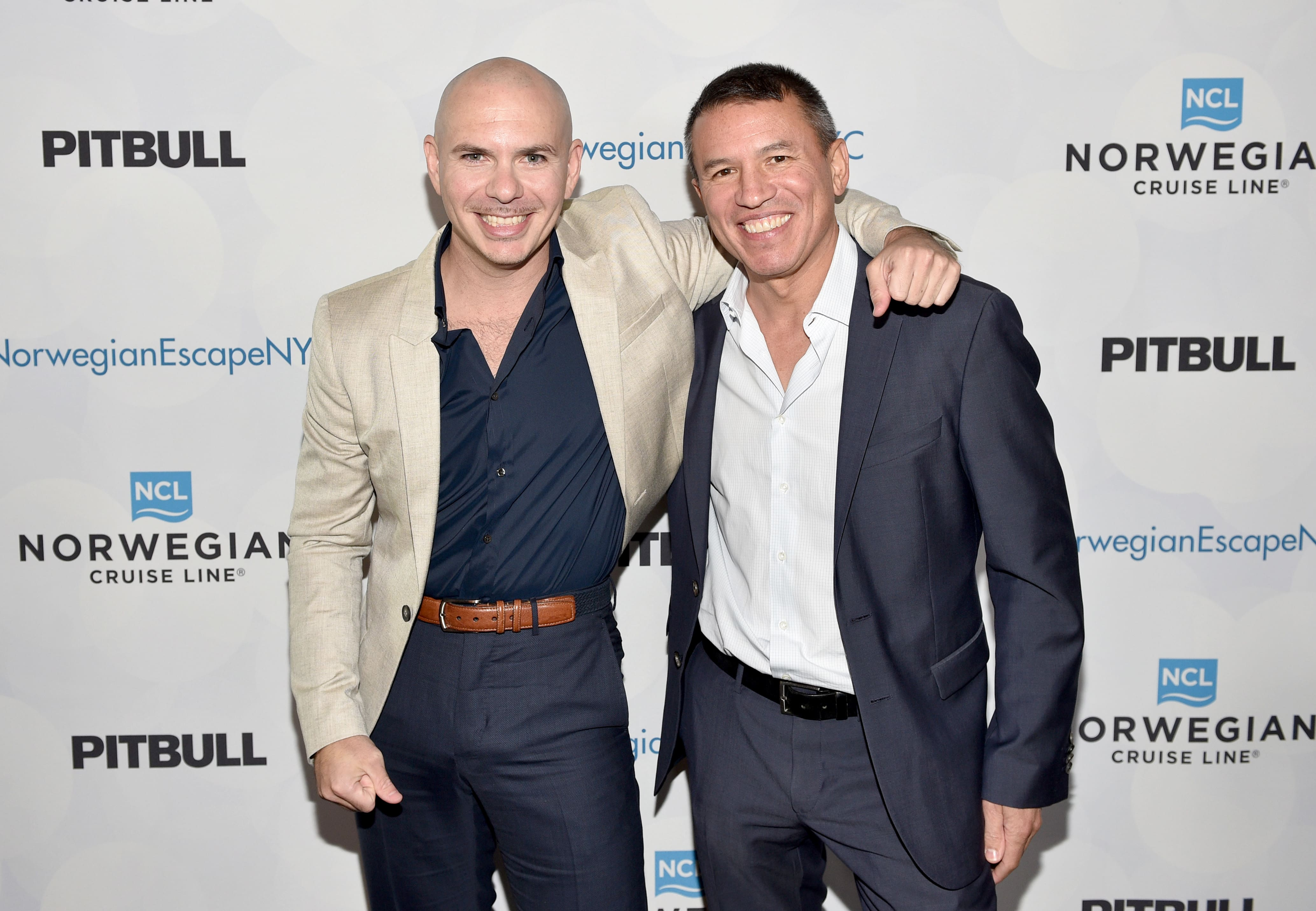Pitbull with NCL President and CEO Andy Stuart