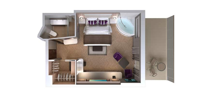 Floor plan The Haven Spa Suite with Balcony