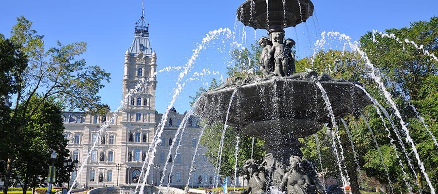 Quebec Parliament on Canada & New England Cruise