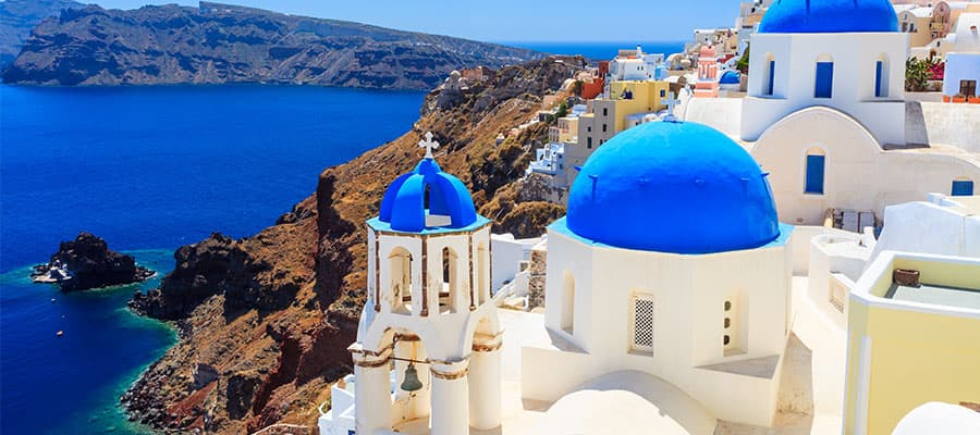 Santorini, Greece on our Mediterranean Cruises