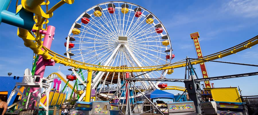 Visit the Santa Monica Pier on your Pacific Coastal cruise