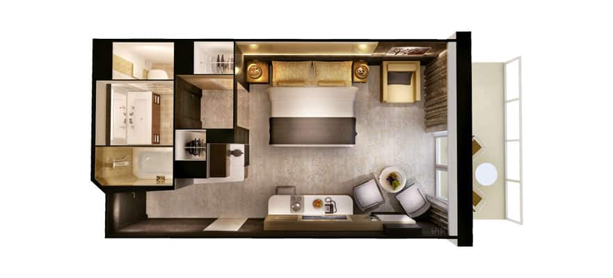 Floor plan The Haven Courtyard Penthouse with Balcony