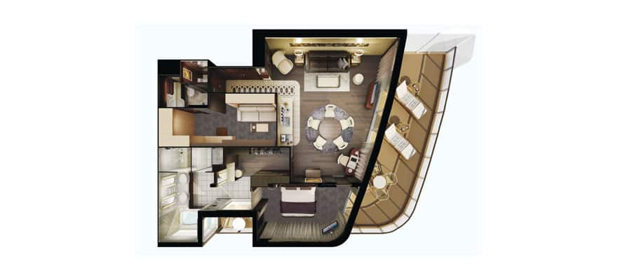 Floor plan The Haven Deluxe Owner's Suite with Large Balcony