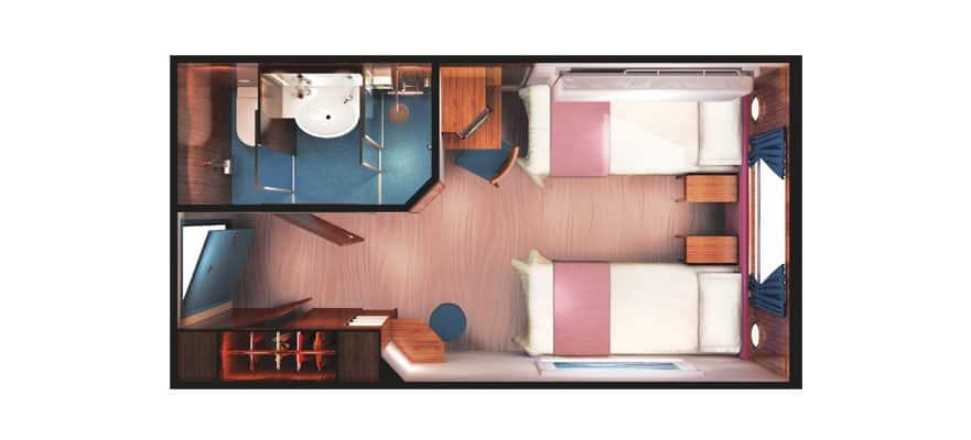 Floor plan Mid-Ship Oceanview Picture Window