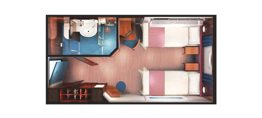 Floor plan Oceanview Porthole Window
