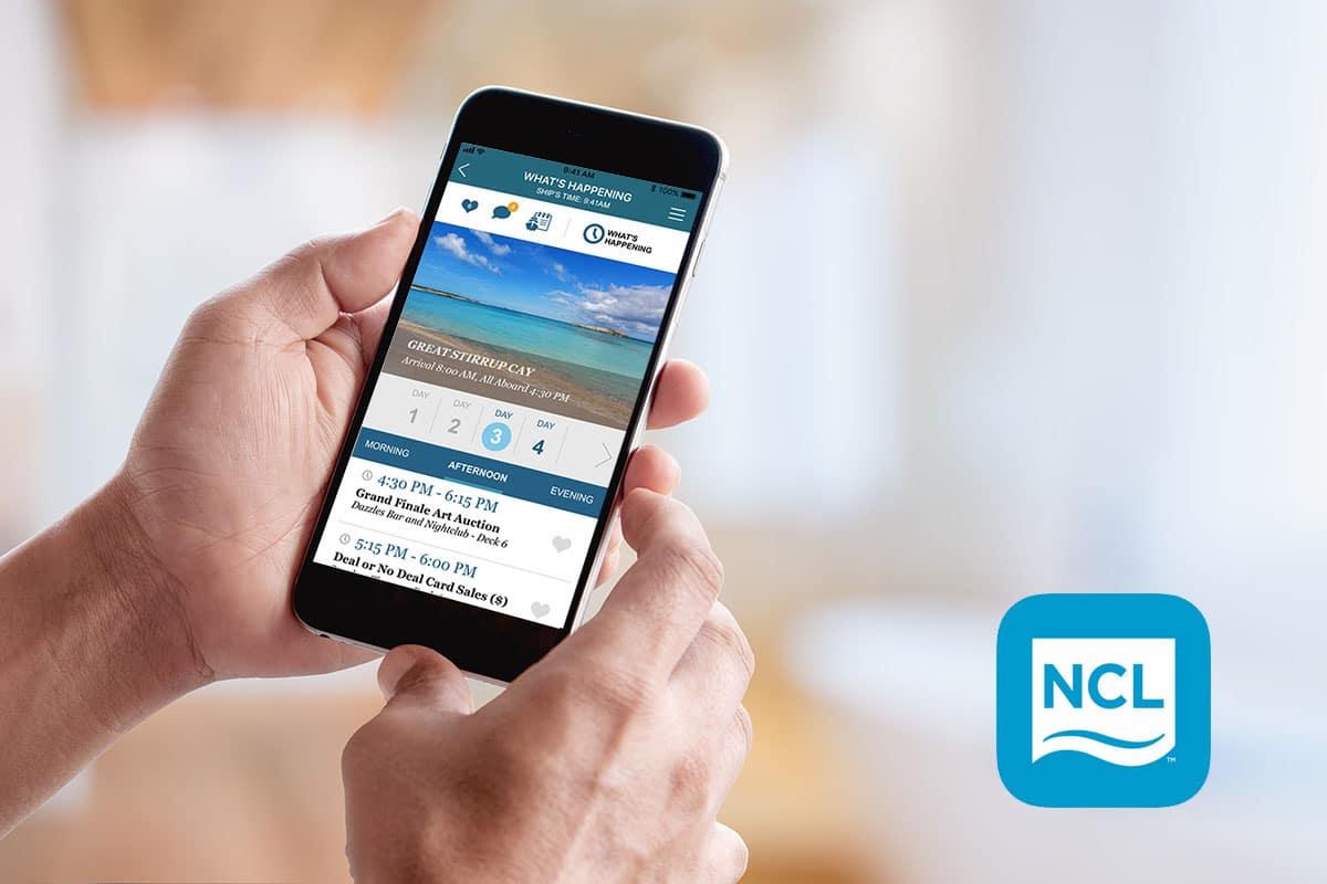 cruise norwegian app screen
