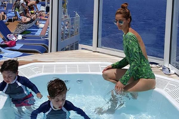 Let your kids play in the hot tubs