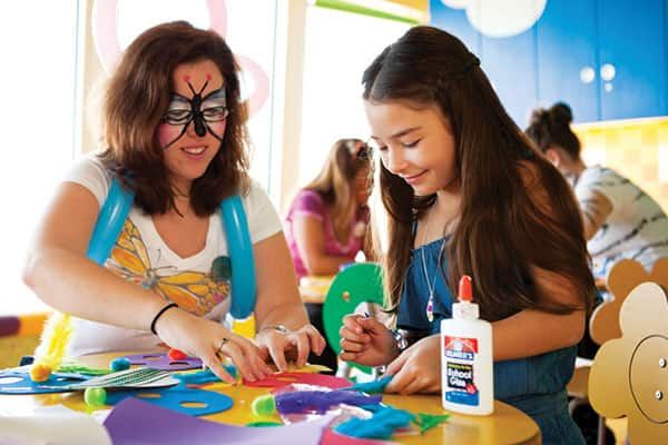 Fun activities in the complimentary youth program