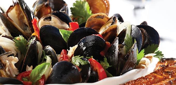 Mussels in Ocean Blue