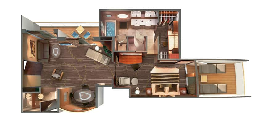 Floor plan The Haven Deluxe Owner's Suite with Balcony
