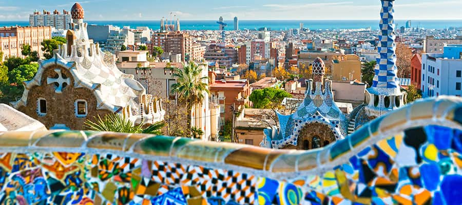 Park Guell on your Europe cruise