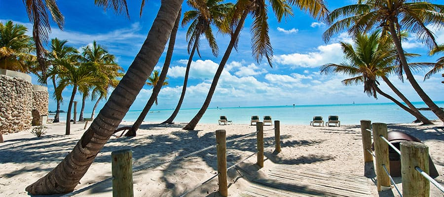 Spend some time on the beach when you cruise to Key West