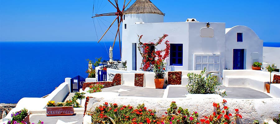 Picturesque houses on a Europe cruise