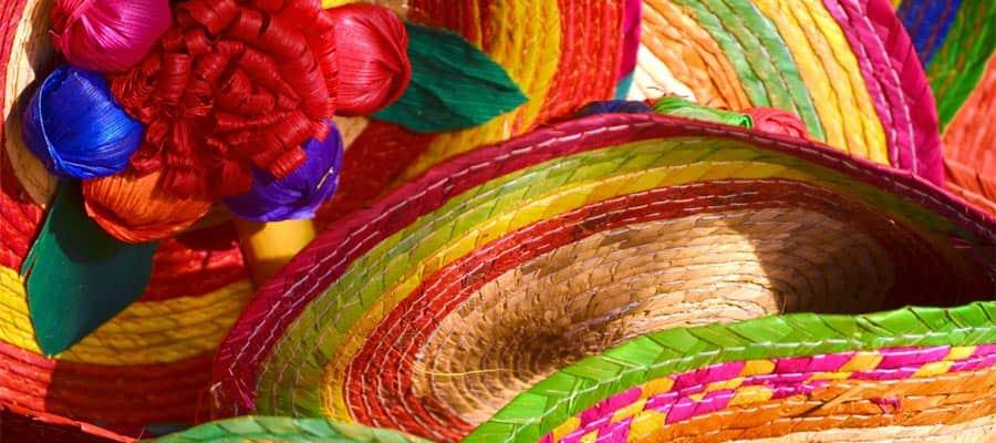 Mexican sombrero hats