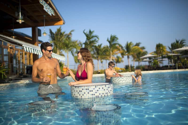 Harvest Caye Swim-Up Bar