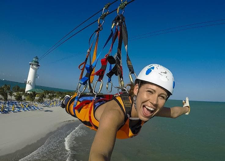 Find Excitement on a Zipline across Harvest Caye
