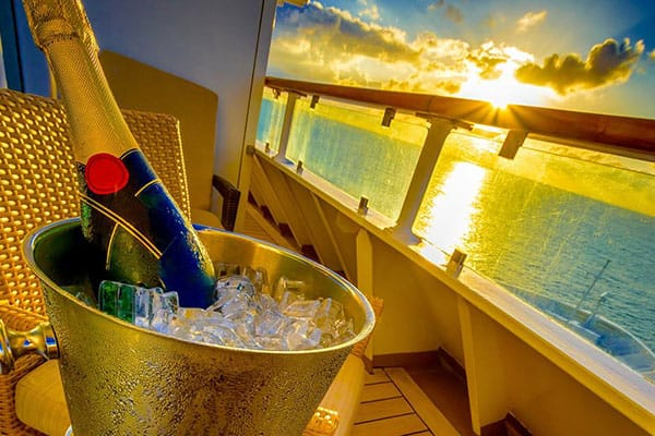 Champagne on your balcony