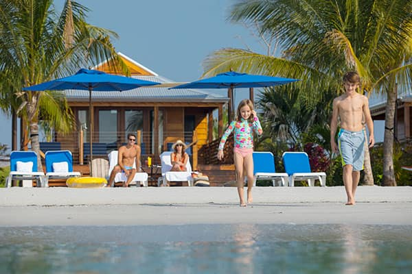 Get a cabana in Harvest Caye in case it rains