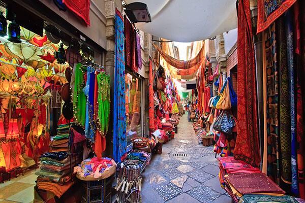 Beautiful fabrics in Spain