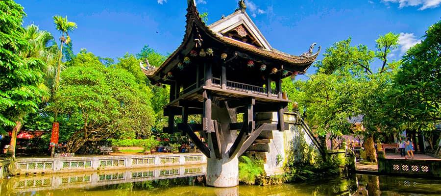 Pagode au pilier unique lors de votre croisière en Asie