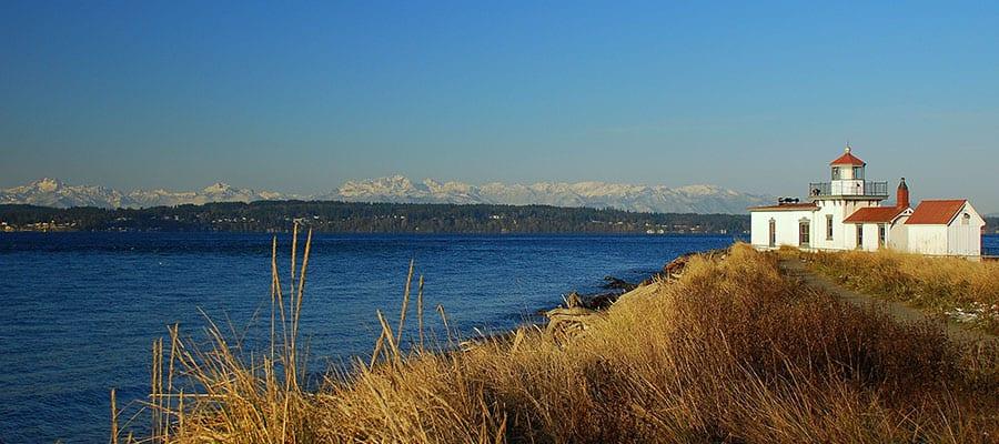 Visitez le phare de Discovery Park à Seattle lors de votre croisière