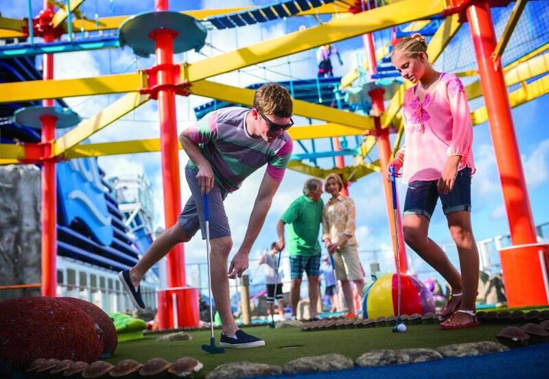Try Family Friendly Fun Activities Like Mini Golf on Norwegian Breakaway
