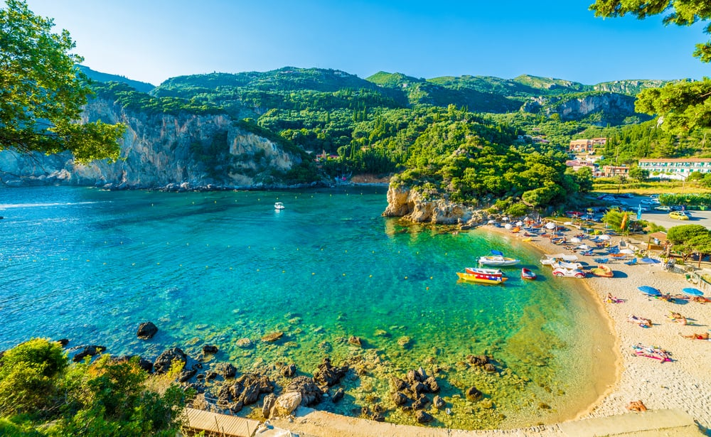 Beach in Corfu, Greece