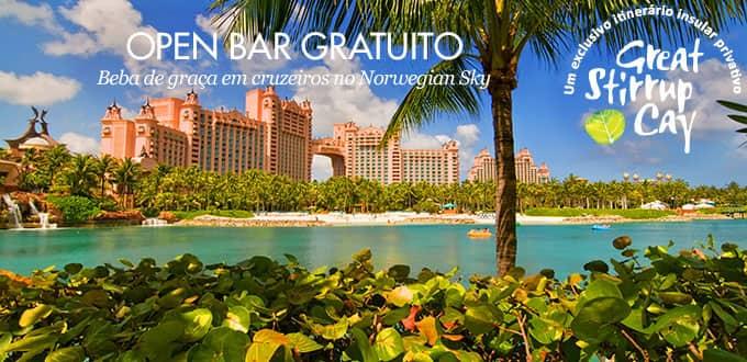 3 dias, de Miami para as Bahamas - OPEN BAR GRÁTIS