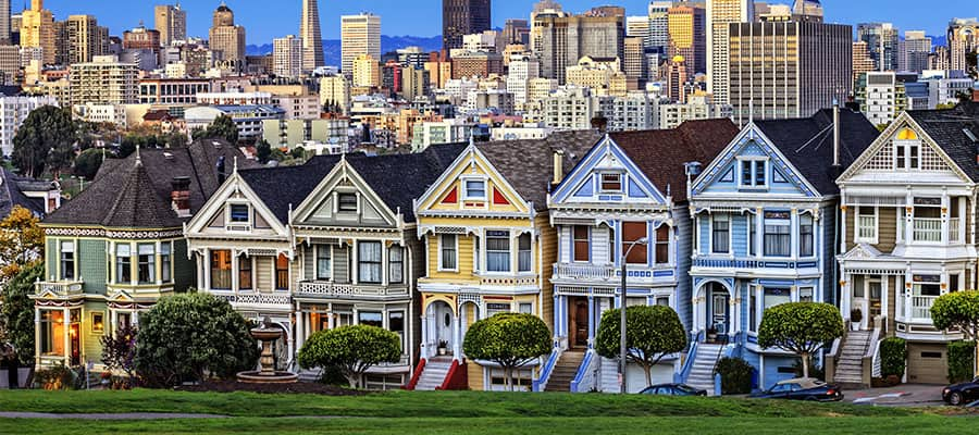 Visit the Painted Ladies on your cruise from San Francisco