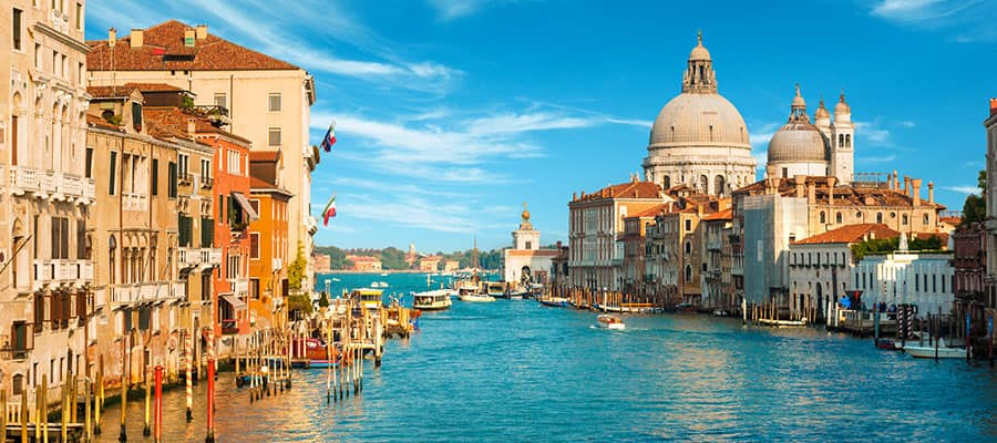 The Grand Canal will be a highlight of your Europe cruise