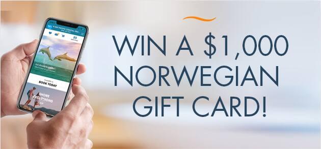 norwegian gift card 1000