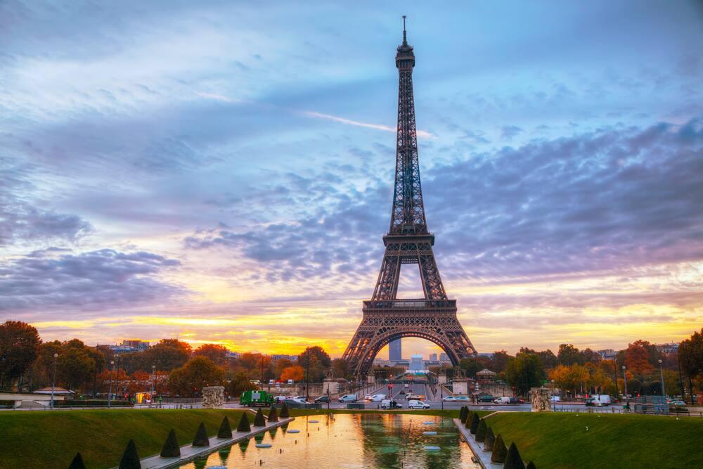 Eiffel Tower at Sunrise
