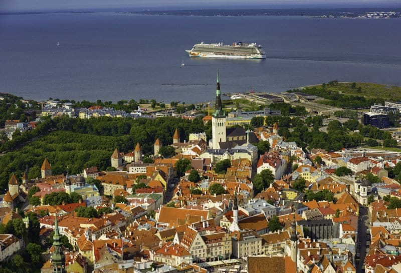 Norwegian Getaway cruising Tallinn, Estonia